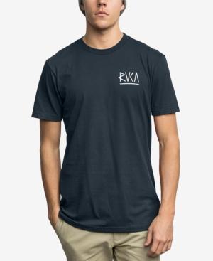 Rvca Men's Flip Graphic-Print T-Shirt In Federal Blue