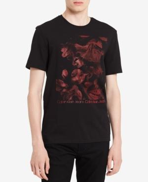 Calvin Klein Jeans Men's Graphic-Print T-Shirt In Black