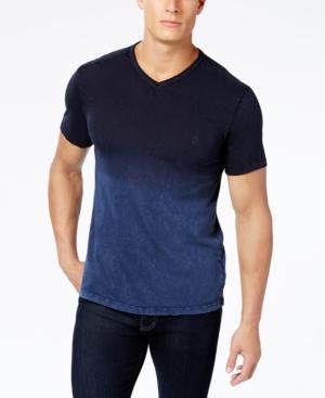 Calvin Klein Jeans Men's Dip-Dyed T-Shirt In Bordeaux