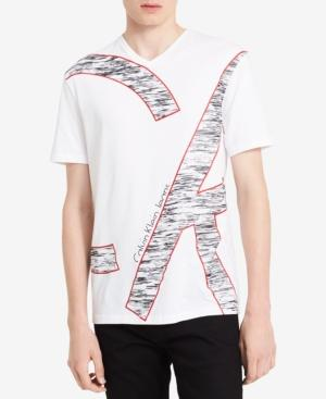 Calvin Klein Jeans Men's Ck Oversized Graphic T-Shirt, A Macy's Exclusive Style In Standard White