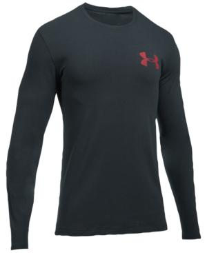 Under Armour Men's Charged Cotton Long-Sleeve T-Shirt In Dark Grey