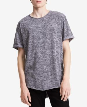 Calvin Klein Jeans Men's Rolled-Edge T-Shirt In Dark Cement Grey
