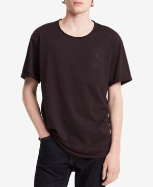 Calvin Klein Jeans Men's Rolled-Edge T-Shirt In Spiced Currant