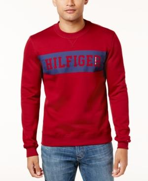 Tommy Hilfiger Men's Graphic-Print Sweatshirt In Rhubarb