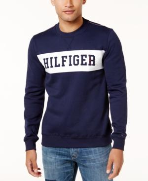 Tommy Hilfiger Men's Graphic-Print Sweatshirt In Metal Grey