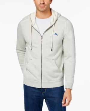 Tommy Bahama Men's Shore Crest Hoodie, Created For Macys In Grey Heath