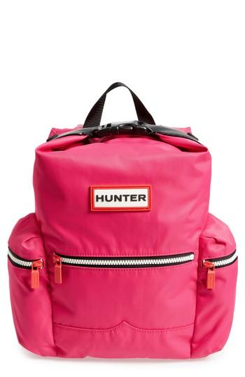 Hunter Original Mini Top Clip Nylon Backpack - Pink In Bright Pink