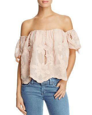 Lovers+Friends Lovers And Friends Life's A Beach Off-The-Shoulder Top In Pink