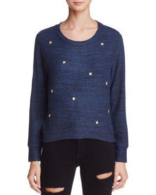 Sundry Star Patch Sweatshirt In Navy
