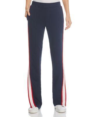Pam & Gela Racing Stripe Track Pants In Neat Navy