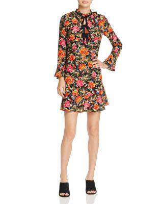 Sandro Doreen Silk Mini Dress In Multi