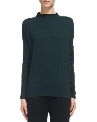 Whistles Peplum-Hem Sweater In Dark Green
