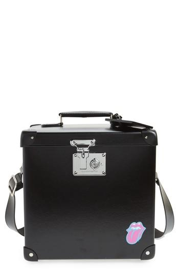 Globe-Trotter The Rolling Stones 12-Inch Hardshell Record Case - Black In Black/ Black