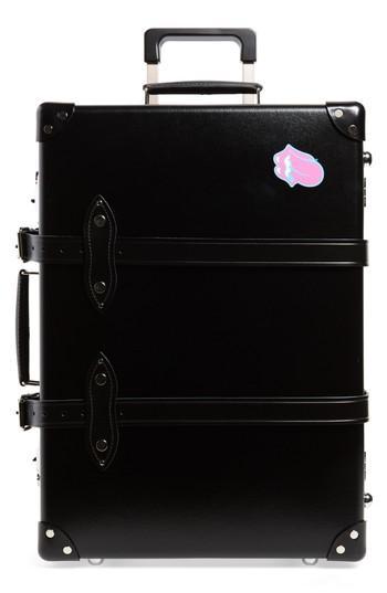 Globe-Trotter The Rolling Stones 21-Inch Hardshell Trolley Case - Black In Black/ Black