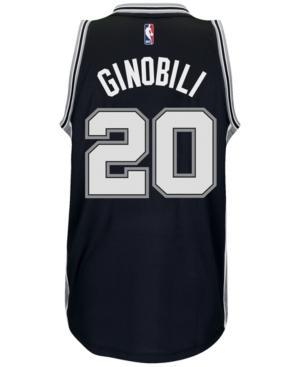 Adidas Originals Adidas Men's Manu Ginobili San Antonio Spurs Swingman Jersey In Black