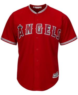 Majestic Men's Los Angeles Angels Of Anaheim Replica Jersey In Red