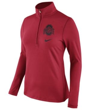 Nike Women's Ohio State Buckeyes Tailgate Half-Zip Pullover In Red