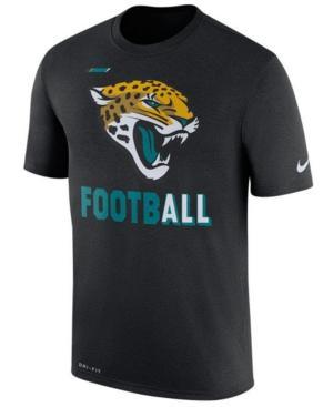 Nike Men's Jacksonville Jaguars Legend Football T-Shirt In Black