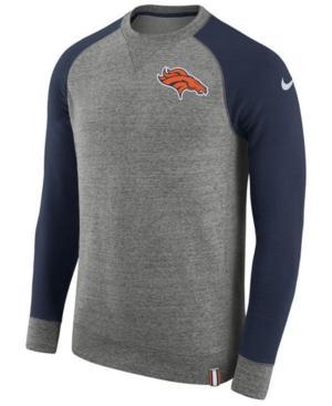 Nike Men's Denver Broncos Crew Top In Gray
