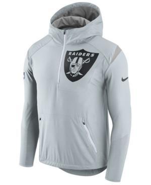 Nike Men's Oakland Raiders Lightweight Fly Rush Jacket In Silver