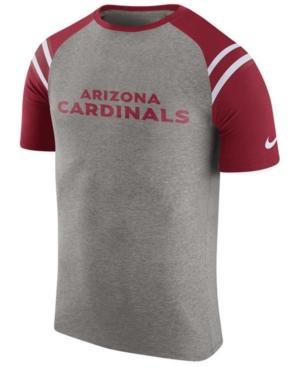 Nike Men's Arizona Cardinals Enzyme Shoulder Stripe T-Shirt In Heather Gray