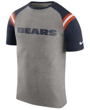 Nike Men's Chicago Bears Enzyme Shoulder Stripe T-Shirt In Heather Gray