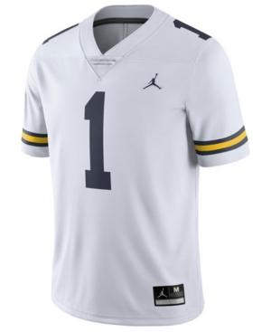 Nike Men's Michigan Wolverines Limited Football Jersey In White
