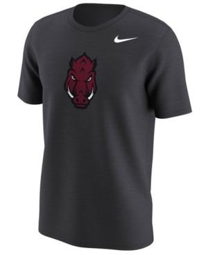 Nike Men's Arkansas Razorbacks Alternate Logo T-Shirt In Anthracite