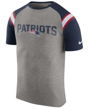 Nike Men's New England Patriots Enzyme Shoulder Stripe T-Shirt In Heather Gray