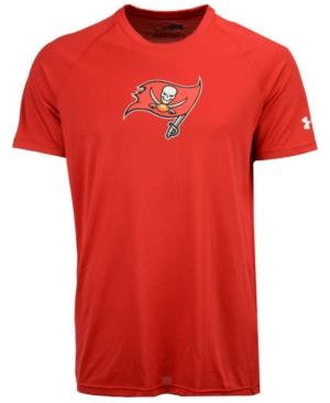 Under Armour Men's Tampa Bay Buccaneers Combine Logo T-Shirt In Red
