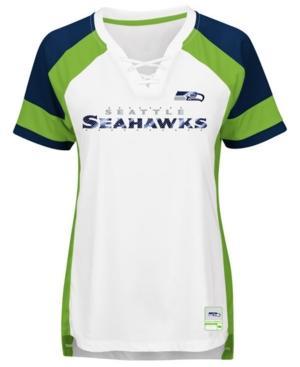 Majestic Women's Seattle Seahawks Draft Me T-Shirt In White