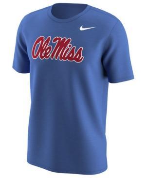 Nike Men's Ole Miss Rebels Alternate Logo T-Shirt In Royalblue