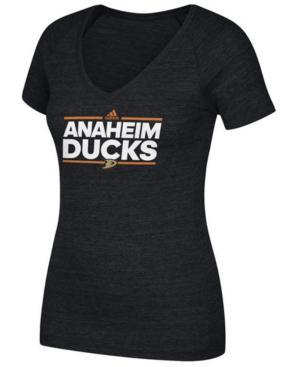 Adidas Originals Adidas Women's Anaheim Ducks Dassler T-Shirt In Black