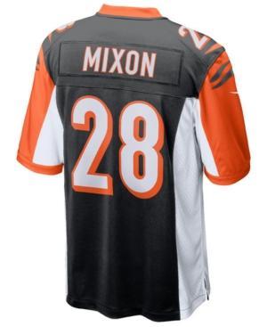 Nike Men's Cincinnati Bengals Game Jersey Joe Mixon In Black