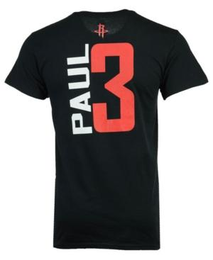Majestic Men's Chris Paul Houston Rockets Vertical Name And Number T-Shirt In Black