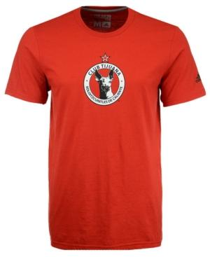 Adidas Originals Adidas Men's Club Tijuana Crest T-Shirt In Red