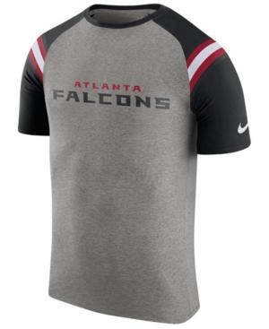 Nike Men's Atlanta Falcons Enzyme Shoulder Stripe T-Shirt In Heather Gray