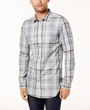 Calvin Klein Jeans Men's Highland Plaid Shirt In Pewter