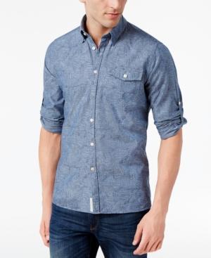 Barbour Chambray Linen-Blend Button-Down Shirt