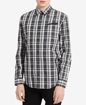 Calvin Klein Jeans Men's Jasper Plaid Shirt In Black