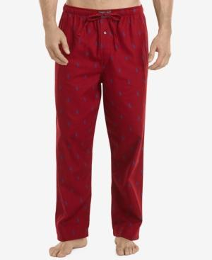 Polo Ralph Lauren Men's Big & Tall Flannel Pajama Pants In Red Pony