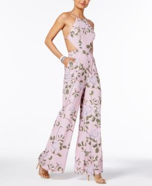 Fame And Partners Freesia Halter Jumpsuit In Cast Floral