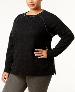 Calvin Klein Performance Plus Size Cotton Embroidered-Logo Sweatshirt In Starry Night