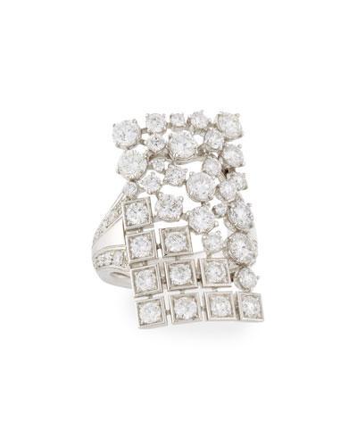 Mariani Mixed-Set Diamond Rectangle Ring