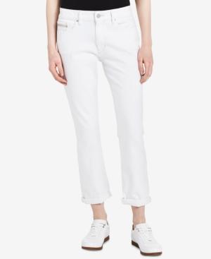 Calvin Klein Jeans Slim-Leg Boyfriend Jeans In White Wash