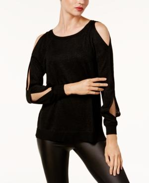 Vince Camuto Cold-Shoulder Sweater In Rich Black