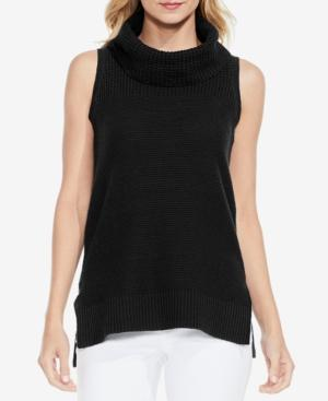 Vince Camuto Two By  High-Low Turtleneck Top In Rich Black