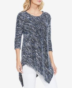 Vince Camuto Two By  Asymmetrical Sweater In Blue Stone