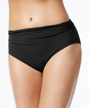 Profile By Gottex High-Waist Ruched Bikini Bottoms Women's Swimsuit In Black