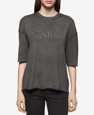 Calvin Klein Jeans Beaded-Logo T-Shirt In Eifel Tower